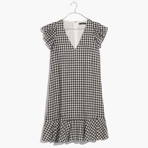 Madewell Gingham Ruffle Dress